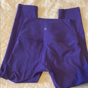 Lululemon purple wunder under high rise